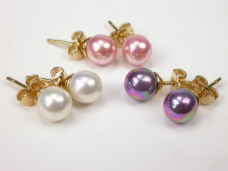 Earrings set - 3 pairs Pink tones